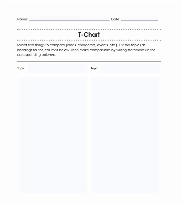 T Chart Template Word Fresh Sample T Chart 7 Documents In Pdf Word