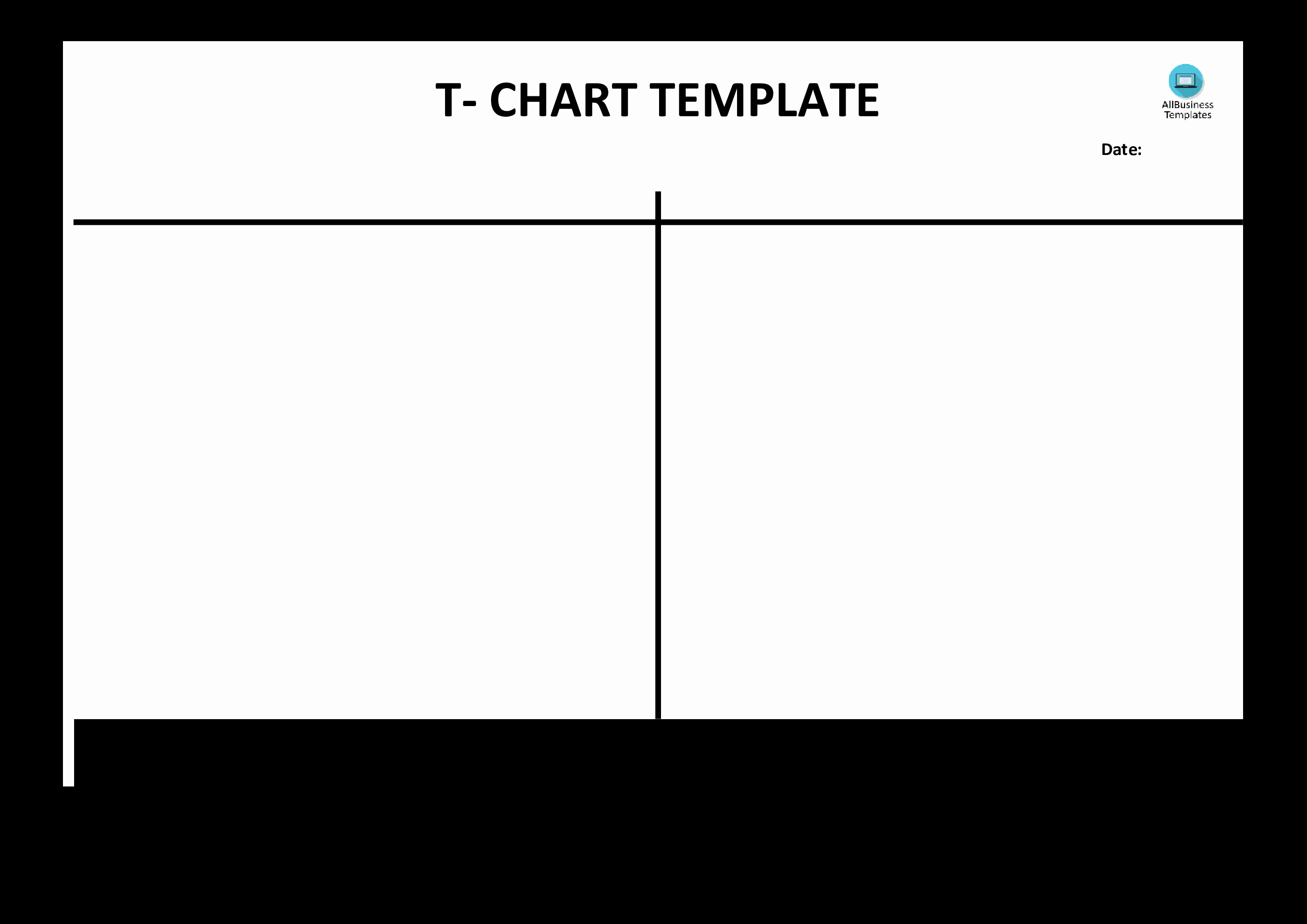 T Chart Template Word Luxury Free T Chart Example Blank