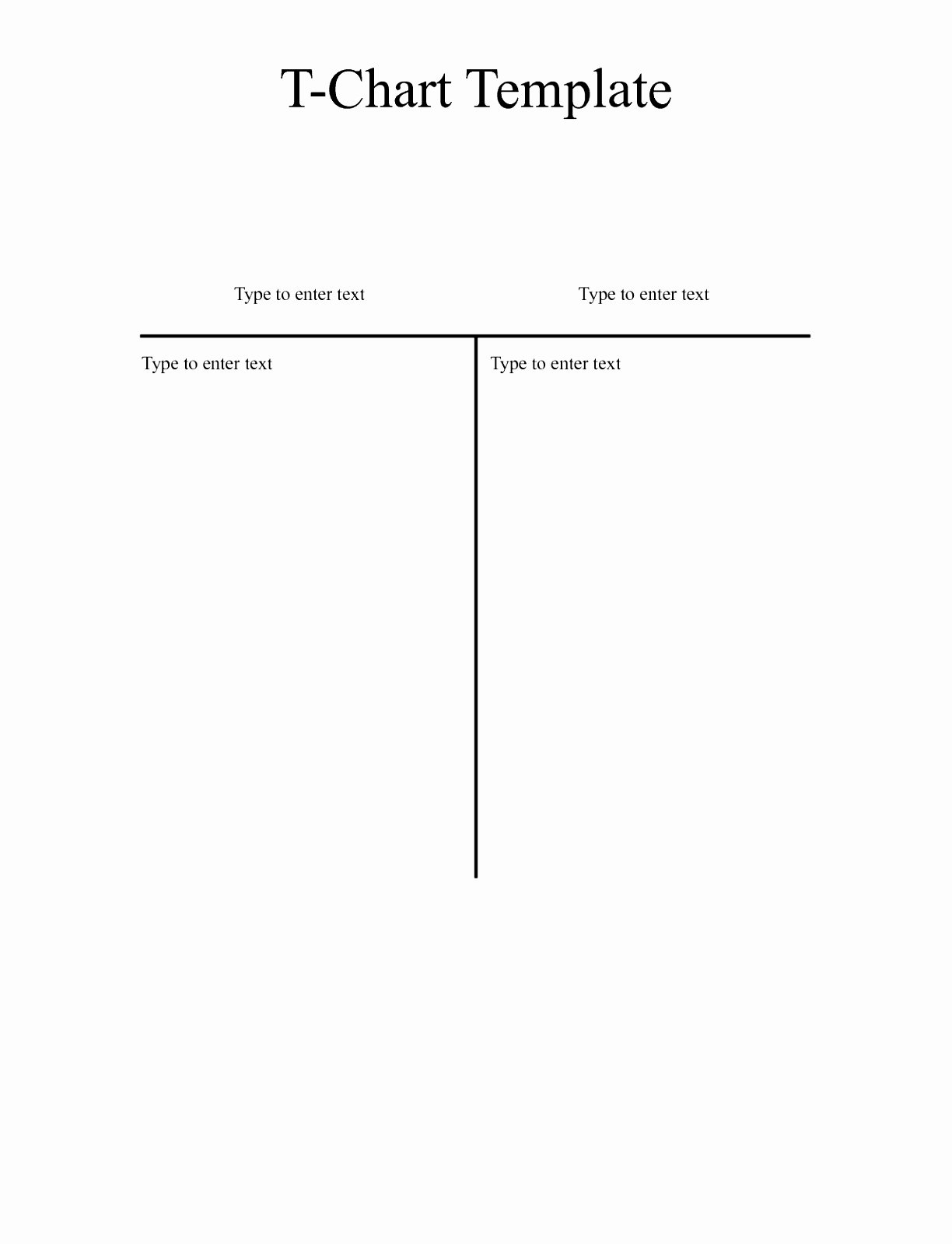 T Chart Template Word New 6 T Chart Template for Word Waoay