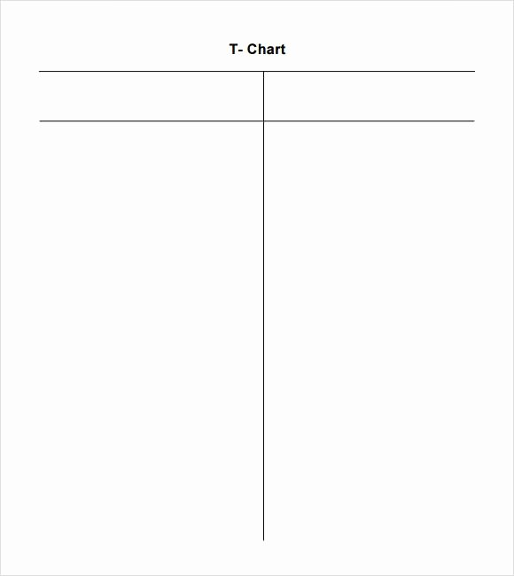 T Chart Template Word New Sample T Chart 7 Documents In Pdf Word