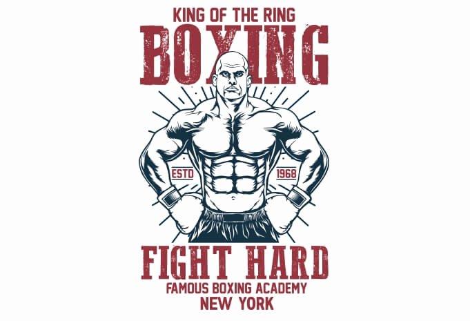 T Shirt Font Design Elegant Boxing T Shirt Design thefancydeal
