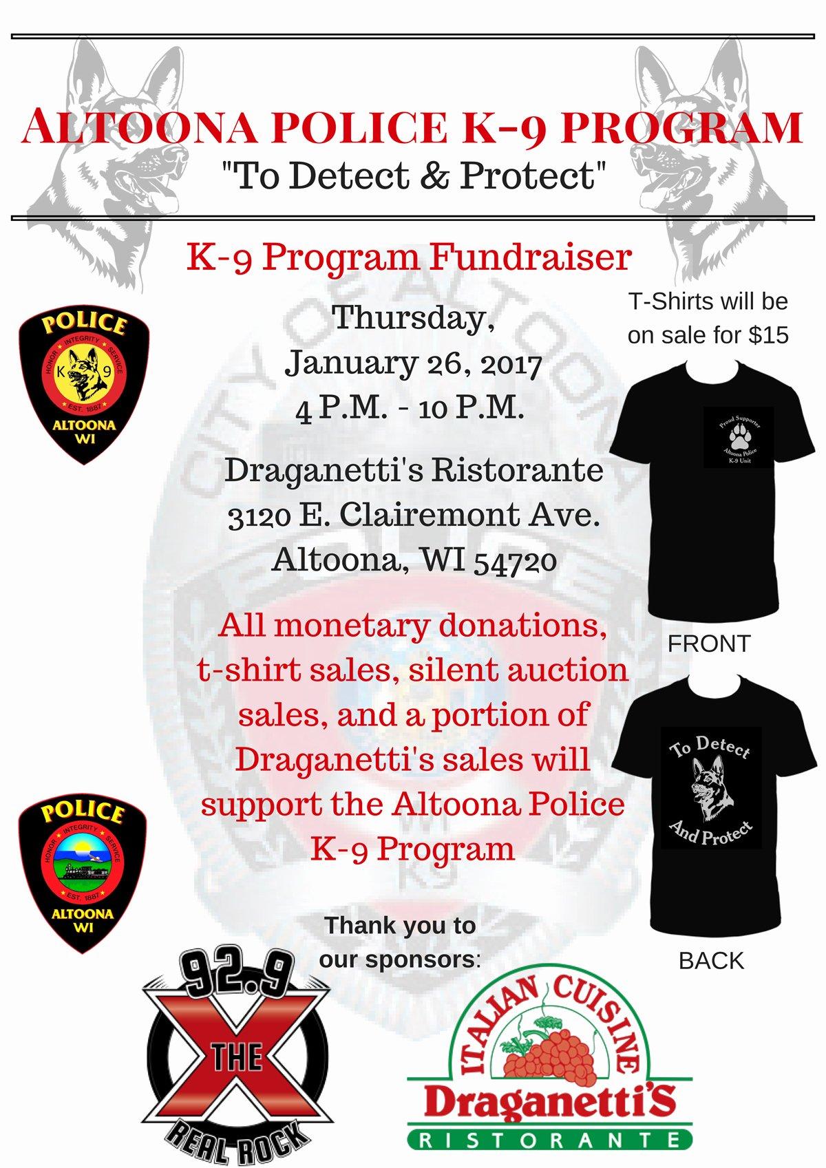 T Shirt Fundraiser Flyer Awesome Altoona K 9 Fundraiser