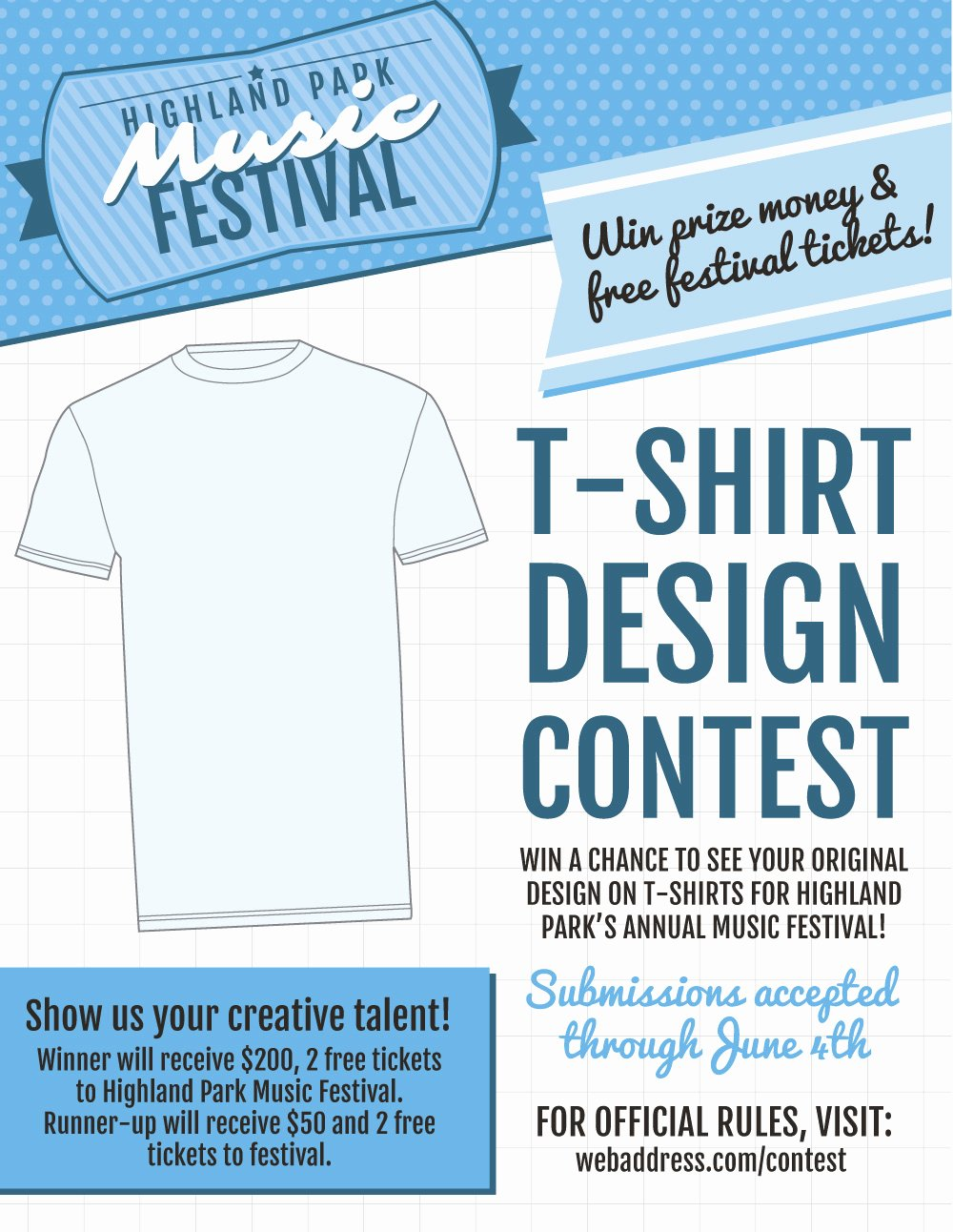 T Shirt Fundraiser Flyer Awesome New T Shirt Contest Marketing Flier Templates