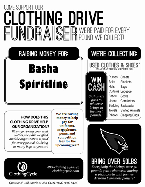 T Shirt Fundraiser Flyer Unique Cheer Fundraisers
