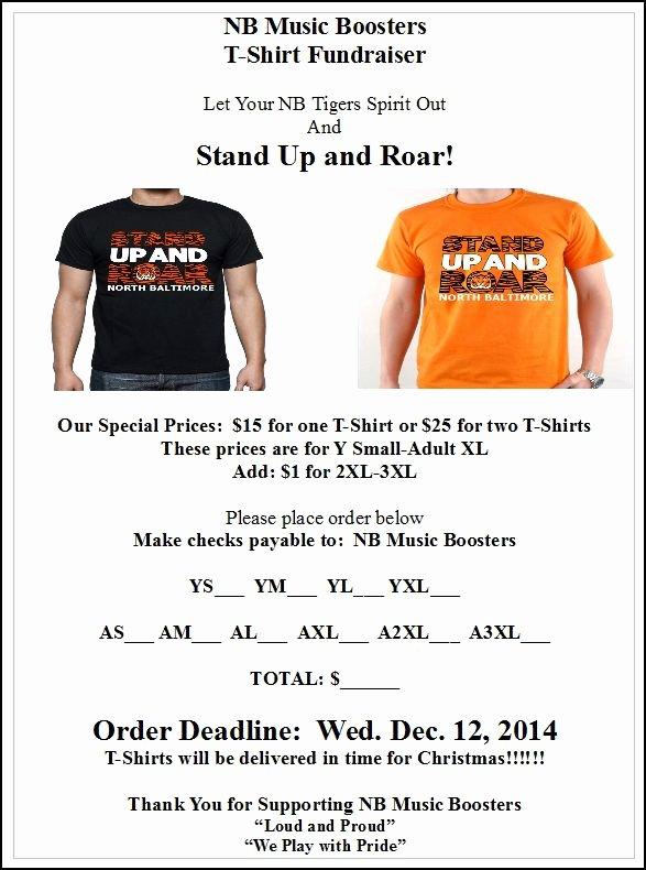 """T Shirt Fundraiser Flyer Unique Nb """"stand Up & Roar"""" T Shirt Fundraiser"""