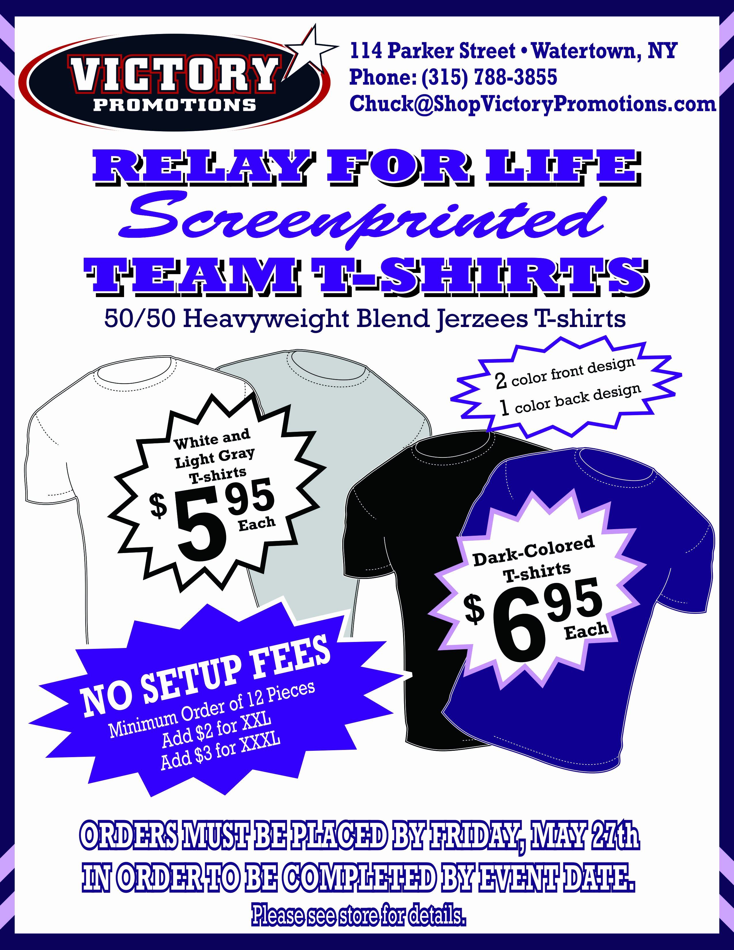 T Shirt Fundraiser Flyer Unique Relay for Life Of Jefferson County