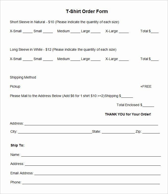 T Shirt order form Doc Best Of T Shirt order form Template 26 Free Word Pdf format Download