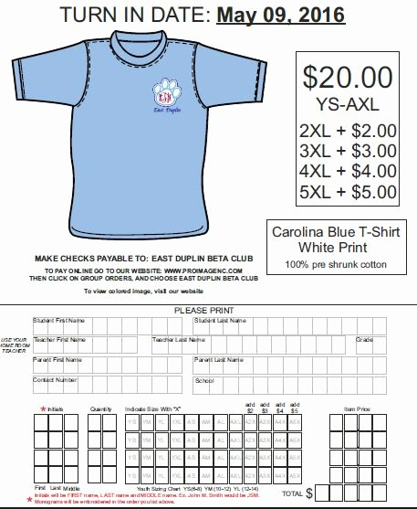 T Shirt order form Doc Elegant 58 Best T Shirt order forms Images On Pinterest