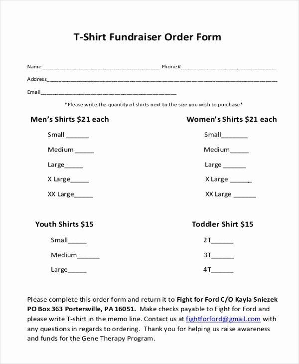 T Shirt order form Doc Elegant Free 10 Sample T Shirt order forms In Doc