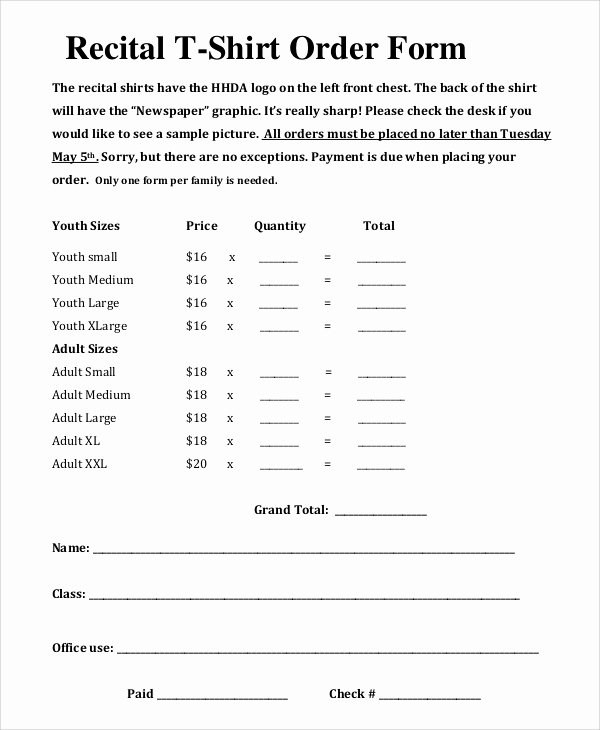 T Shirt order form Doc Lovely Sample T Shirt order form 11 Examples In Pdf Word
