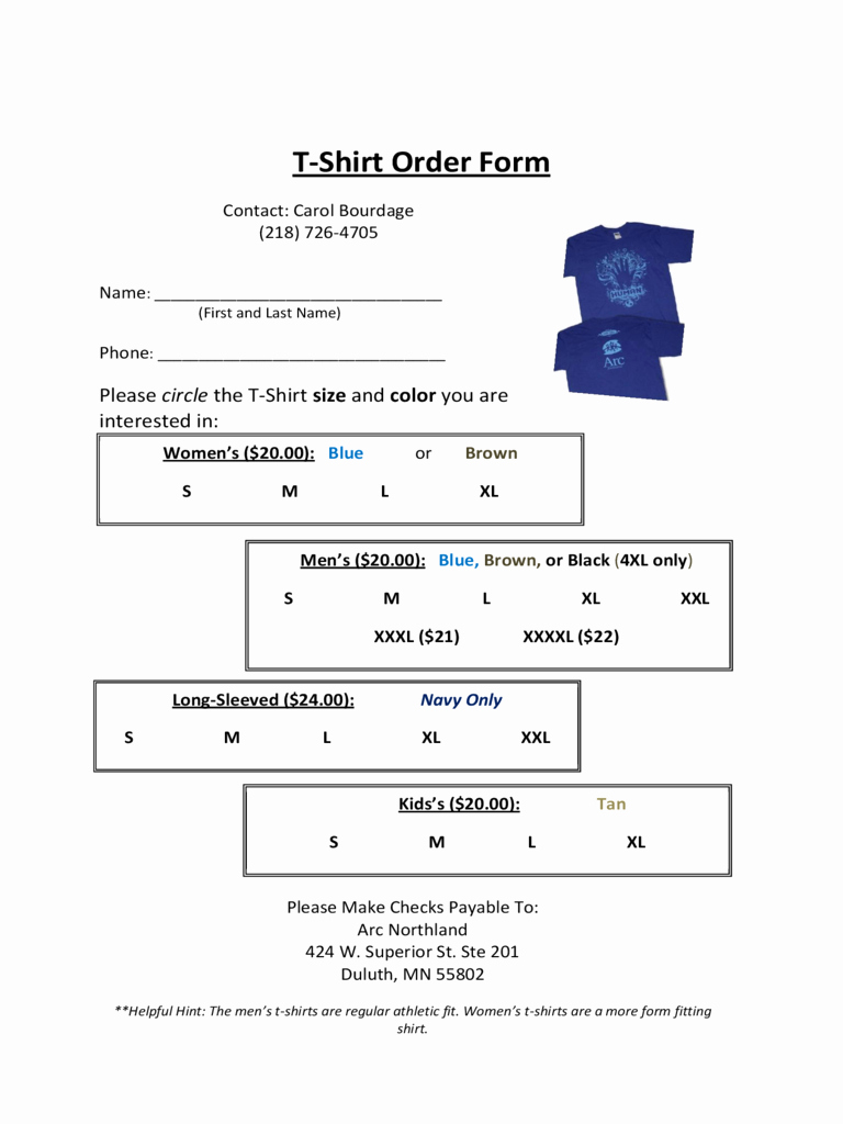 T Shirt order form Doc Lovely T Shirt order form 6 Free Templates In Pdf Word Excel Download