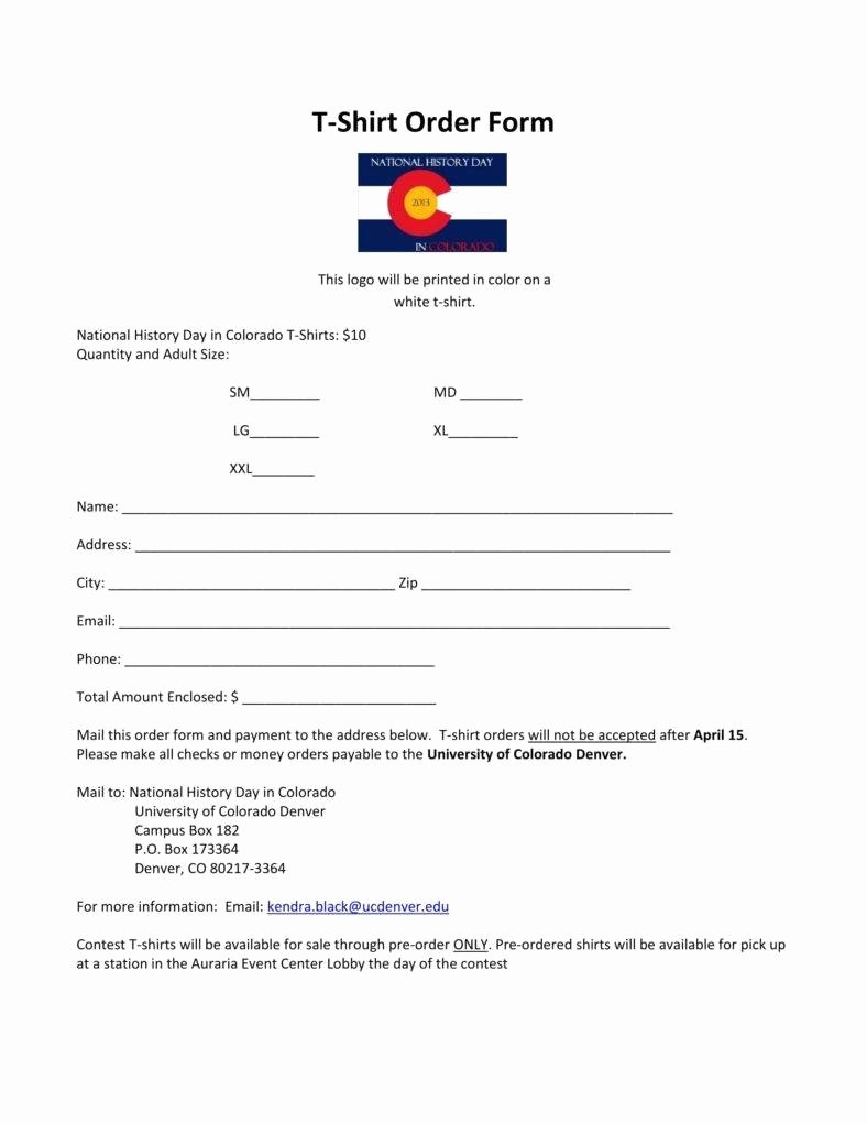 T Shirt order form Pdf Beautiful 10 Fundraiser order form Templates Docs Word