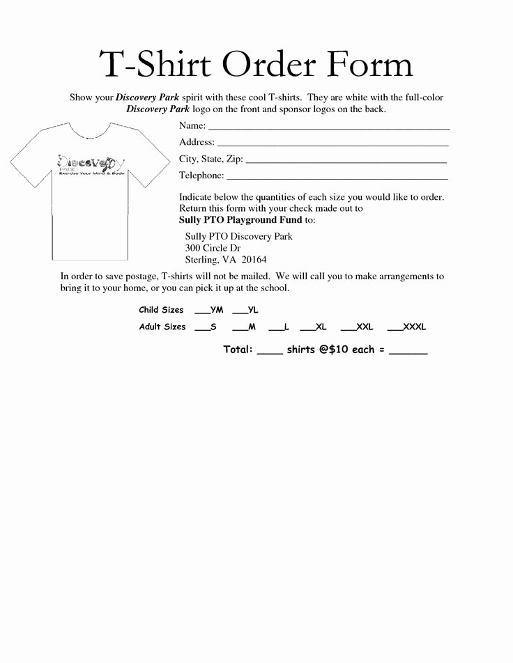 T Shirt order form Pdf Unique 35 Awesome T Shirt order form Template Free Images Projects to Try Pinterest