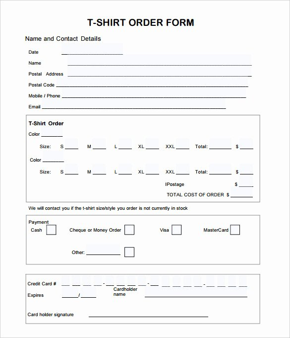 T Shirt order form Word Fresh 26 T Shirt order form Templates Pdf Doc