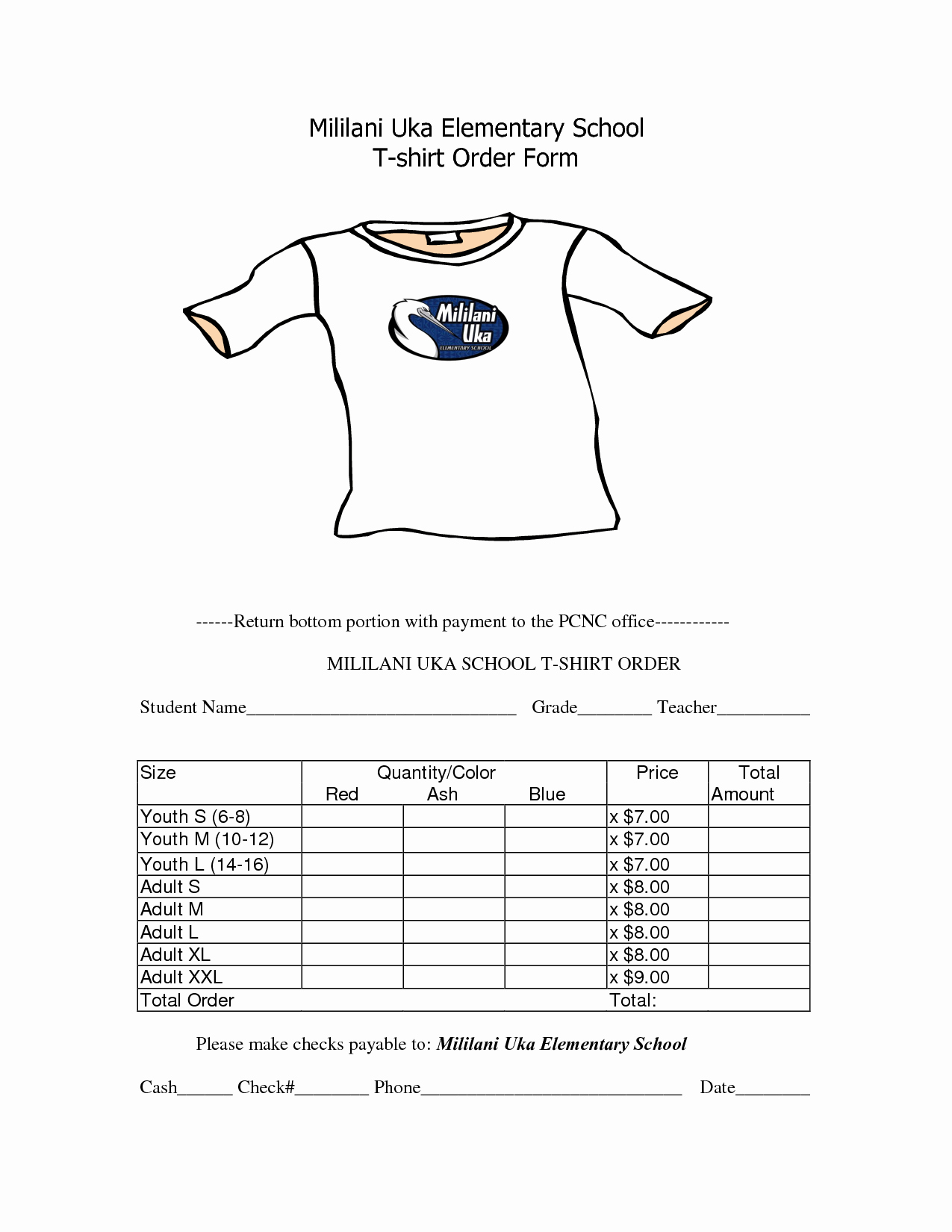 T Shirt order form Word Unique School T Shirt order form Template Awana