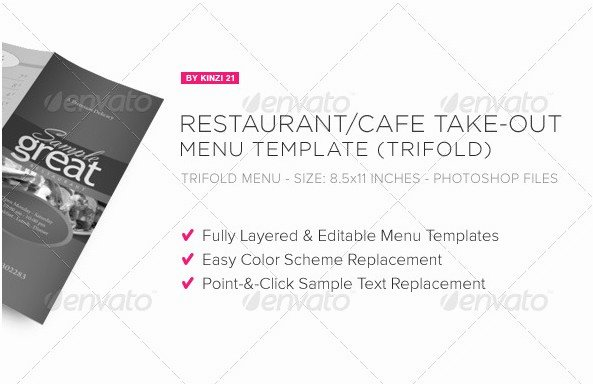 Take Out Menu Design Fresh 40 Best and Impressive Restaurant Menu Templates