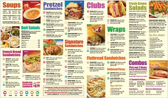 Take Out Menu Design Fresh Fast Food Menu List Pdf