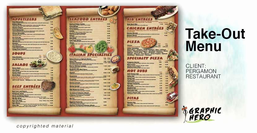 Take Out Menu Design Luxury Take Out Menus Graphic Hero