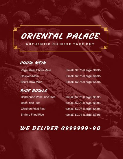 Take Out Menu Design Unique Customize 28 Take Out Menu Templates Online Canva