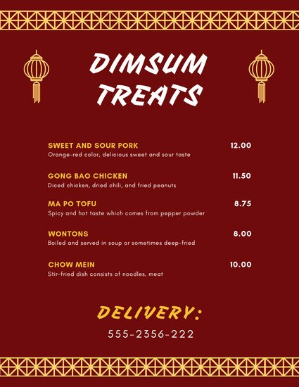 Take Out Menu Template Best Of Customize 21 Take Out Menu Templates Online Canva