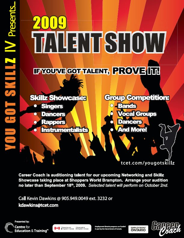 Talent Show Flyer Template Beautiful Poster and Flyer Designs Sample