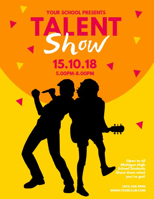Talent Show Flyer Template Free Awesome Talent Show Flyer Template
