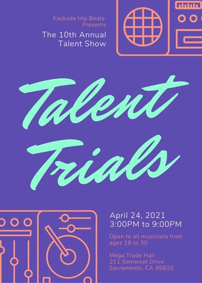 Talent Show Flyer Template Free Best Of Customize 68 Talent Show Flyer Templates Online Canva