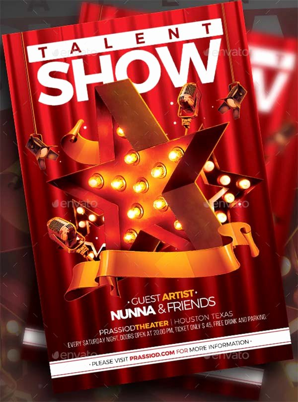 Talent Show Flyer Template Free Fresh 14 Talent Show Flyer Templates Free & Premium Psd Vector formats