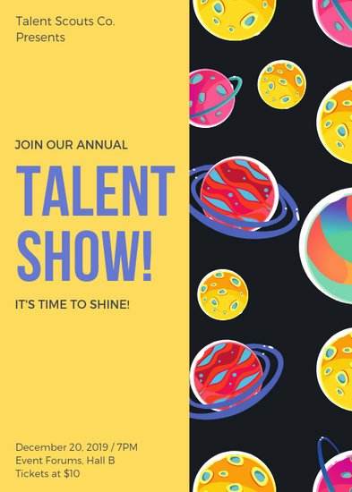 Talent Show Flyer Template Free Fresh Customize 73 Talent Show Flyer Templates Online Canva