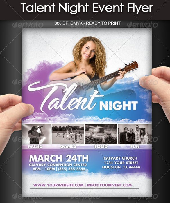 Talent Show Flyer Template Free Inspirational Talent Show Flyer 7 Download Documents In Pdf Psd Vector