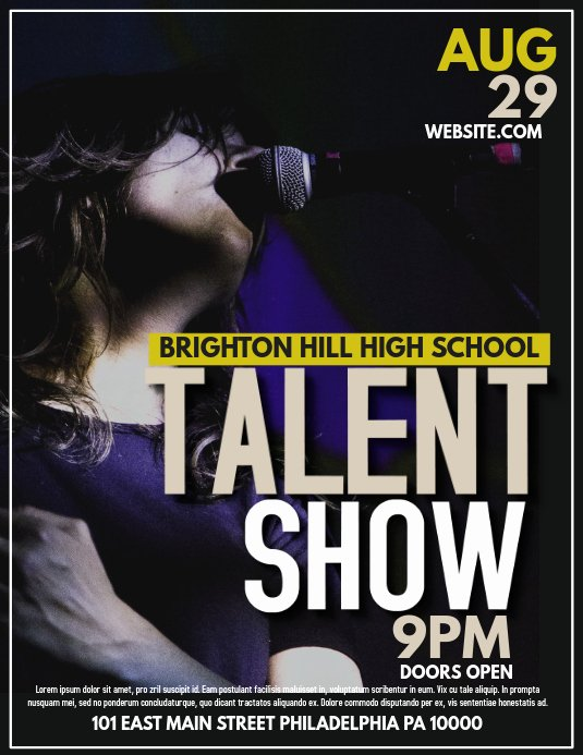 Talent Show Flyer Template Free Inspirational Talent Template