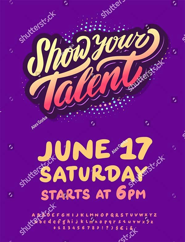 Talent Show Flyer Template Free Lovely 14 Talent Show Flyer Templates Free & Premium Psd Vector formats
