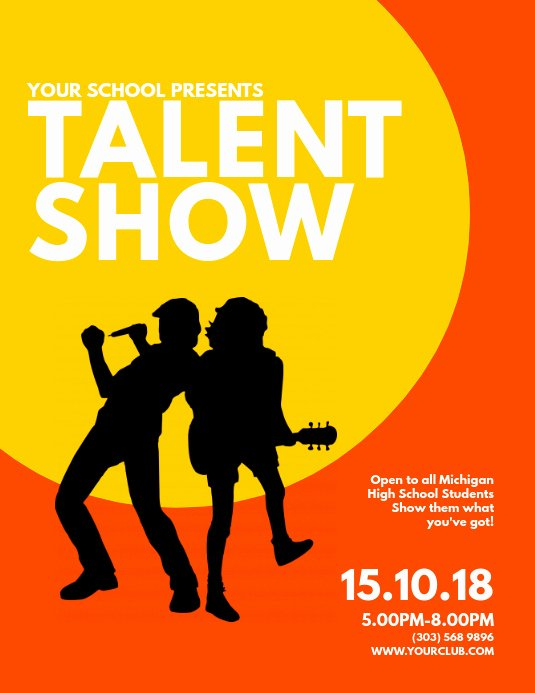 Talent Show Flyer Template Free Luxury Copy Of Talent Show Flyer Template