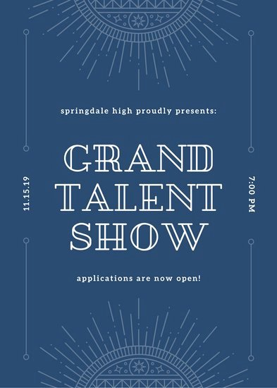 Talent Show Flyer Template Free New Customize 68 Talent Show Flyer Templates Online Canva
