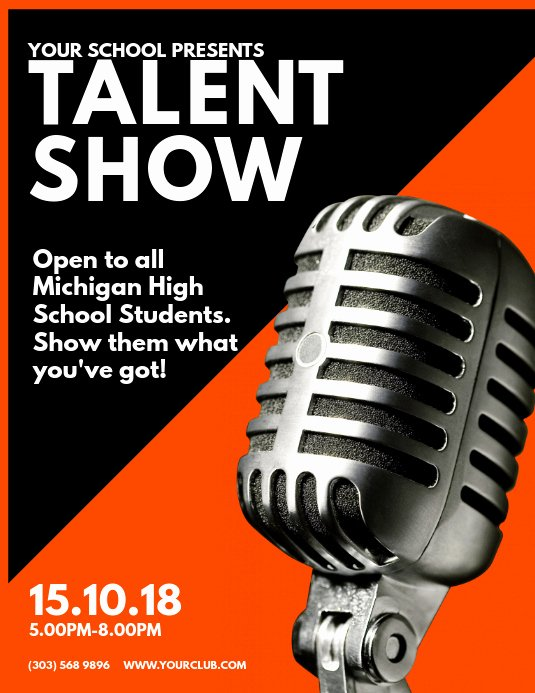 Talent Show Flyer Template Free New Talent Show Flyer Template