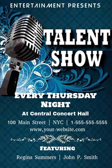 Talent Show Flyer Template Free New Talent Show Template