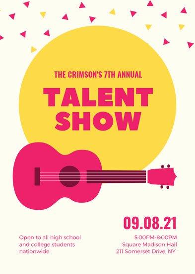 Talent Show Flyer Template Fresh Customize 73 Talent Show Flyer Templates Online Canva