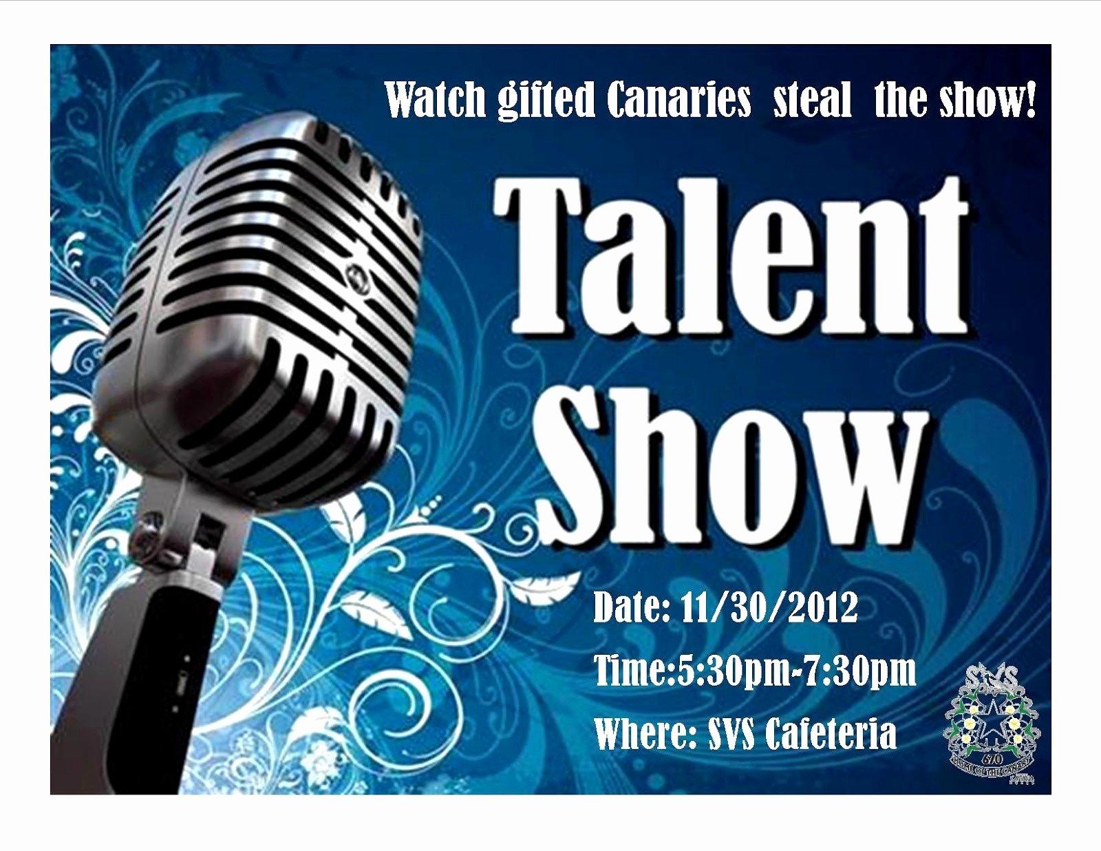 Talent Show Flyer Template Fresh Talent Show Flyer Template