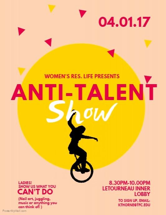 Talent Show Flyer Template New Copy Of Talent Show Flyer Template Postermywall Free Poster Templates