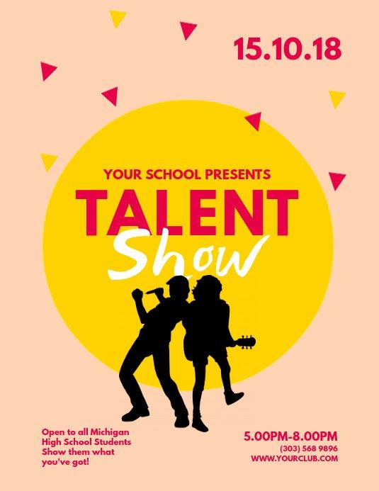 Talent Show Flyer Template Unique Copy Of Talent Show Flyer Template