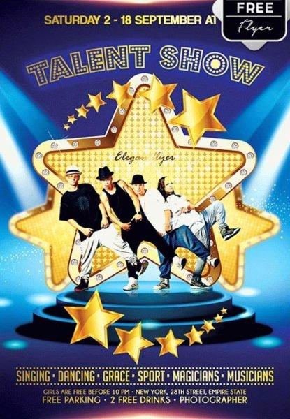 Talent Show Flyer Template Unique Download the Talent Show Free Flyer Template for Shop