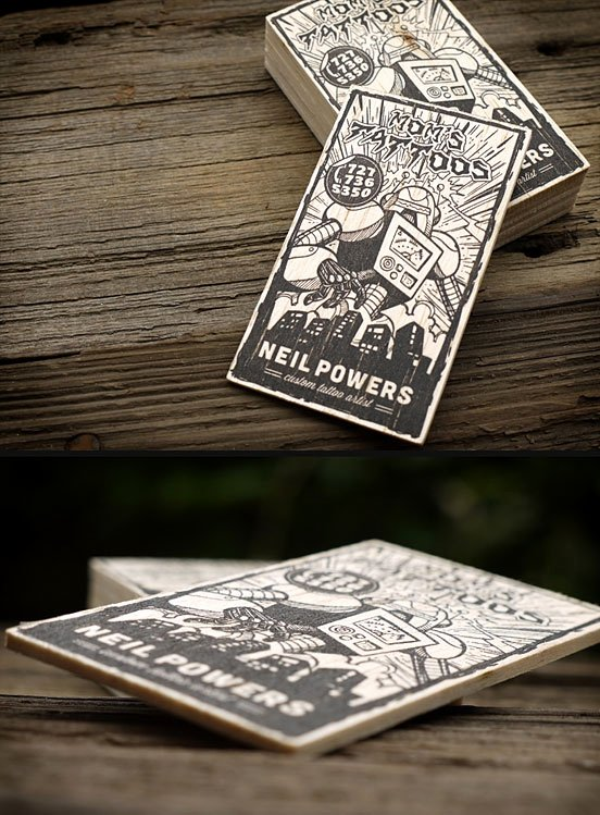 Tattoo Artist Business Cards Beautiful 25 Illustration Based Business Card Designs