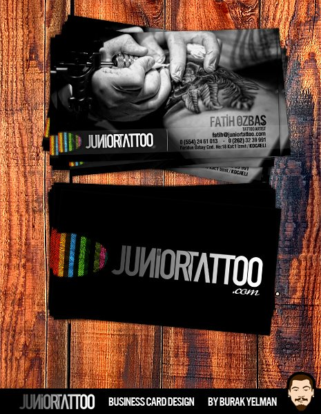 Tattoo Artist Business Cards Best Of Junior Tattoo Business Card by Burakyelman On Deviantart