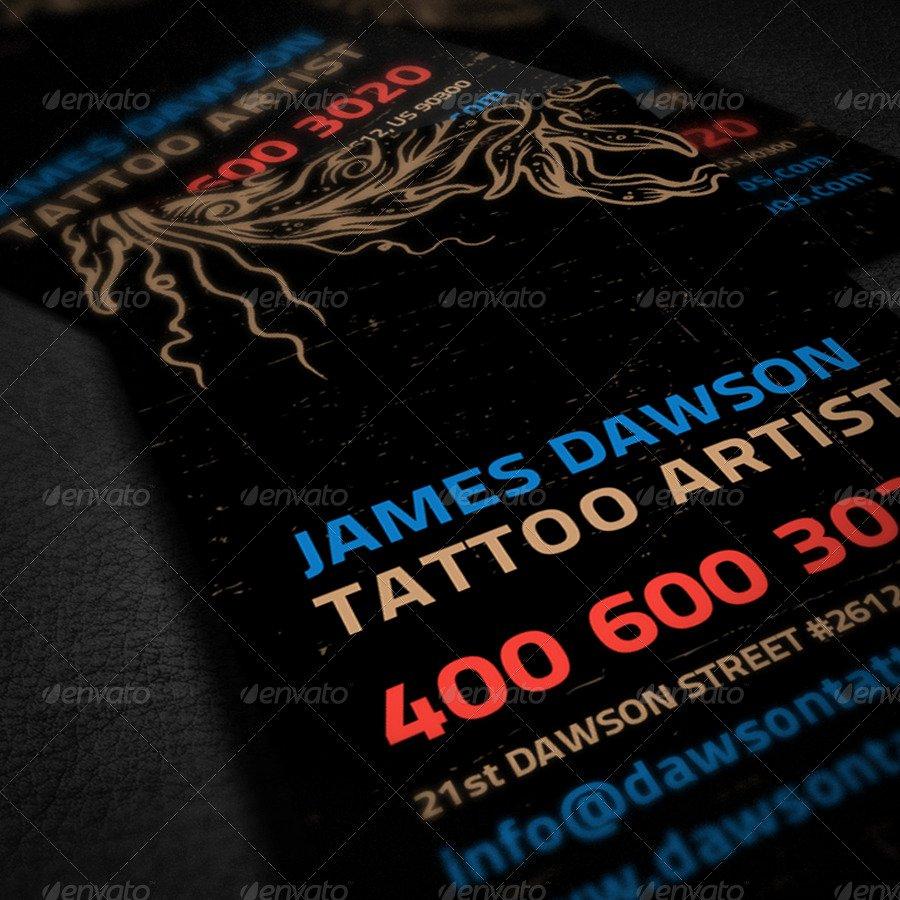 Tattoo Artist Business Cards Best Of Tattoo Artist Business Card by Ellegfxdesign