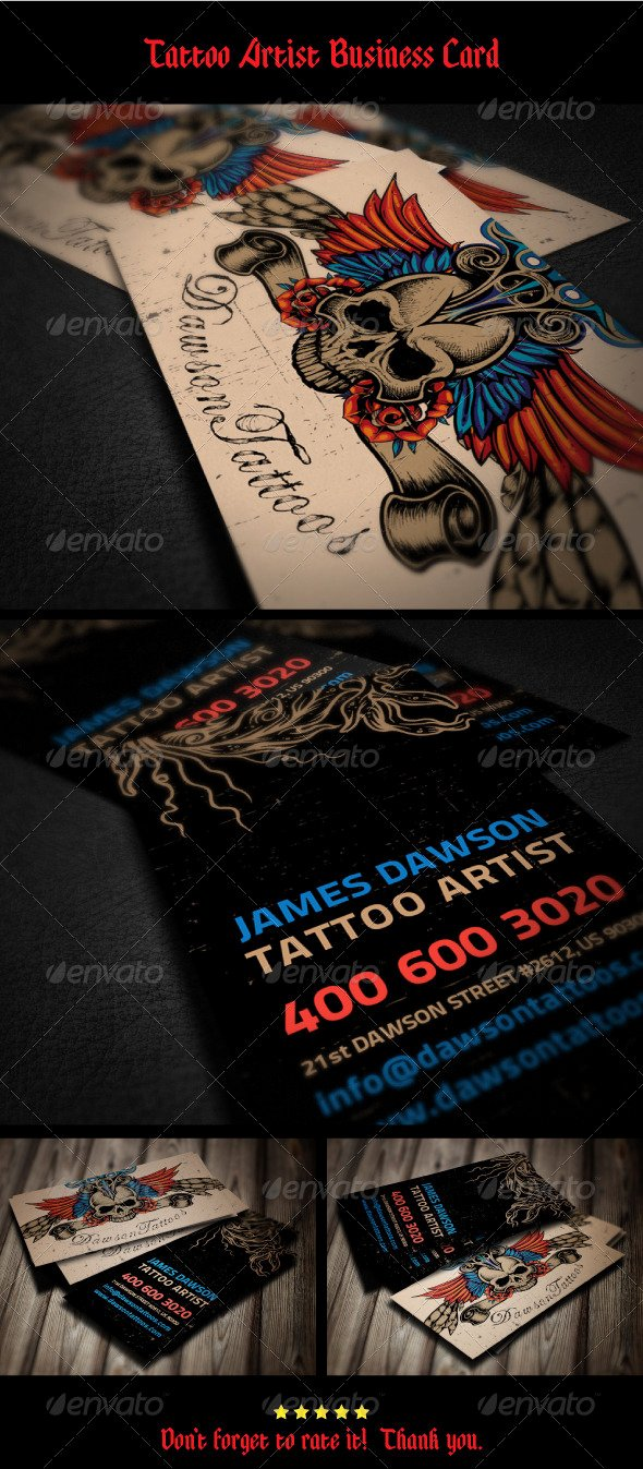 Tattoo Artist Business Cards Inspirational Tattoo Artist Business Card
