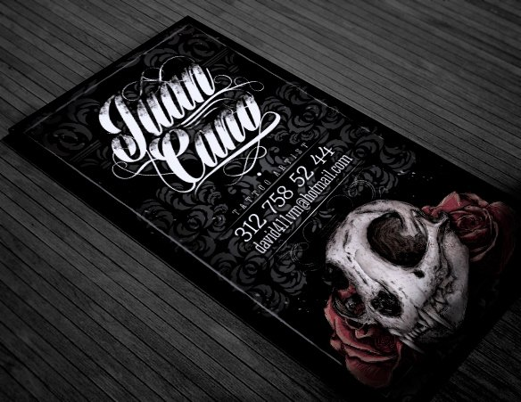 Tattoo Artist Business Cards Inspirational Tattoo Business Card On Behance