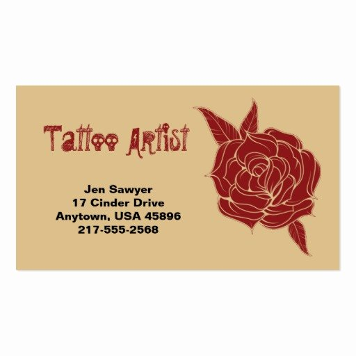 Tattoo Artist Business Cards Lovely Tattoo Artist Business Card