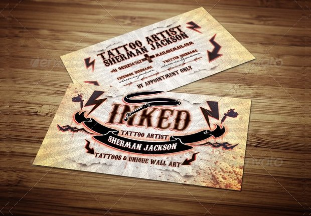 Tattoo Artist Business Cards Luxury 85 Business Card Templates Word Psd Indesign