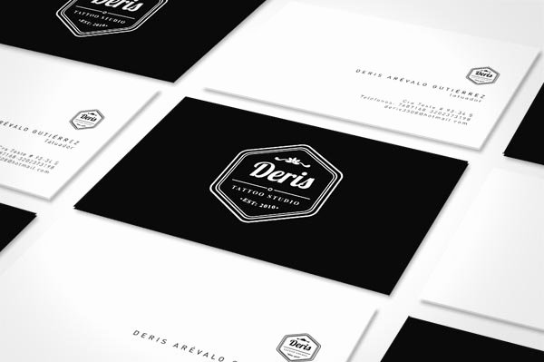 Tattoo Artist Business Cards Luxury Deris Tattoo Studio Identity Design by andrés De La Hoz