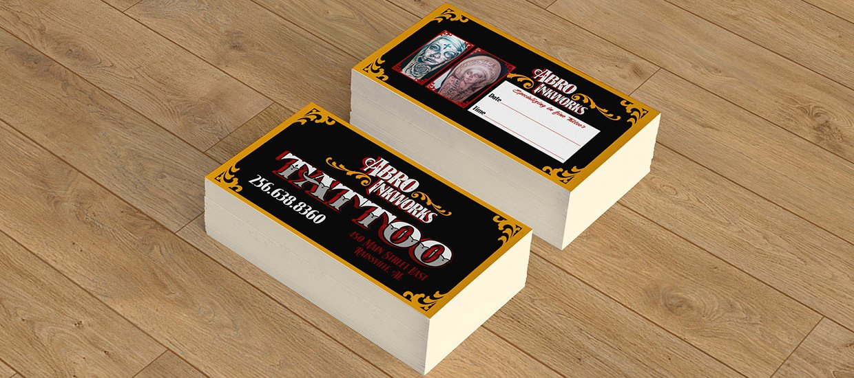 Tattoo Shop Business Cards Best Of Accel Graphics